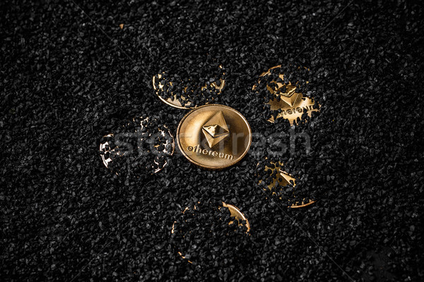 Gold etherium coin  Stock photo © grafvision