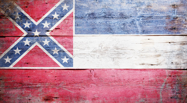 Bayrak Mississipi boyalı ahşap doku Stok fotoğraf © grafvision