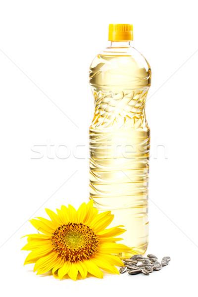 üveg napraforgóolaj virág magok üveg napraforgó Stock fotó © grafvision
