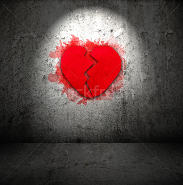 Red broken heart  Stock photo © grafvision