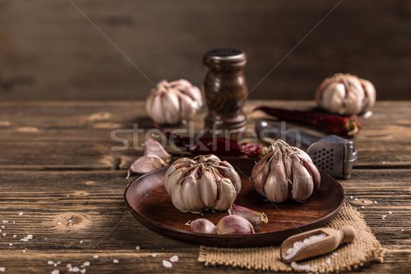 чеснока все гвоздика пластина продовольствие Сток-фото © grafvision