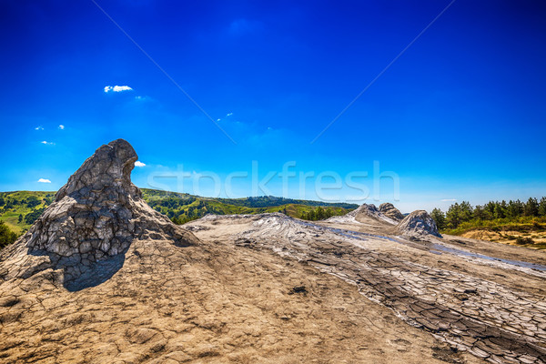 Boue volcan tourisme fissures Roumanie actif Photo stock © grafvision