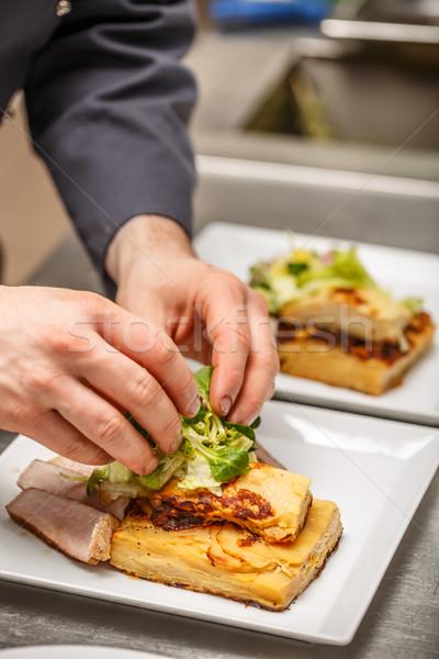 Sliced pork tenderloin Stock photo © grafvision
