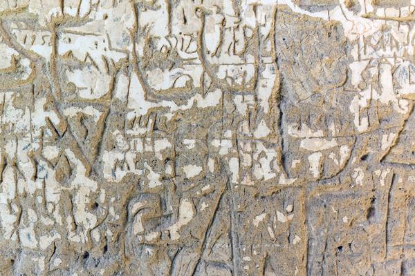 Grunge cement fal öreg koszos stukkó Stock fotó © grafvision