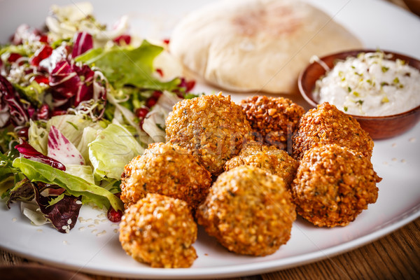 Chickpea falafel balls Stock photo © grafvision