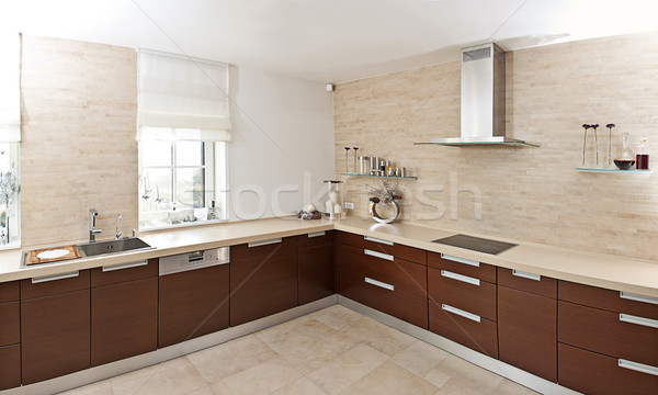 Modern kitchen Stock photo © grafvision