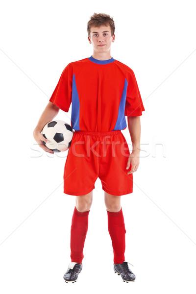 Soccer player whit ball Stock photo © grafvision