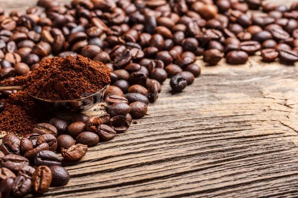 Fresh coffee beans Stock photo © grafvision