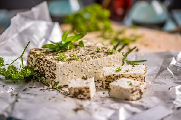 Artisan soft cheese  Stock photo © grafvision