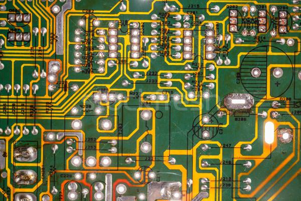 Eletrônico placa de circuito elementos computador fundo Foto stock © grafvision