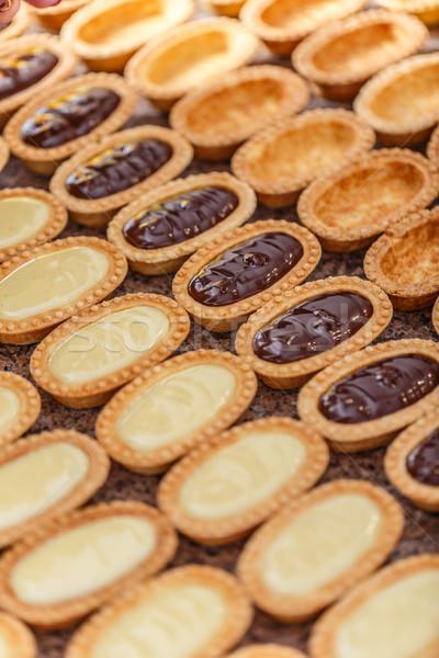 Mini conchas vainilla chocolate crema alimentos Foto stock © grafvision