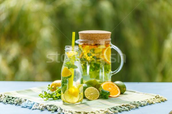 Stockfoto: Vers · water · citroen · oranje