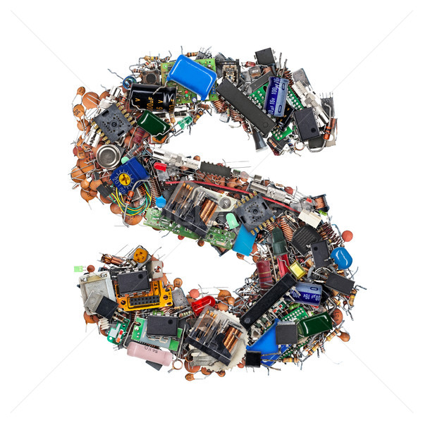 Letter S made of electronic components Stock photo © grafvision