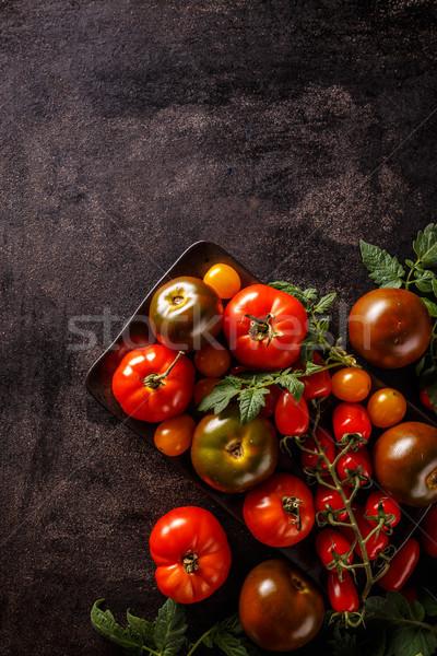 Varieties of colorful tomatos Stock photo © grafvision
