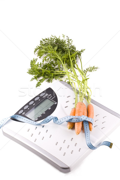 carrots and measuring objects Stock photo © grafvision