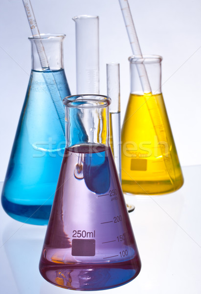 室 ガラス製品 化学 色 液体 ストックフォト © grafvision