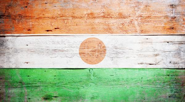 Bandera Níger pintado sucio madera Foto stock © grafvision