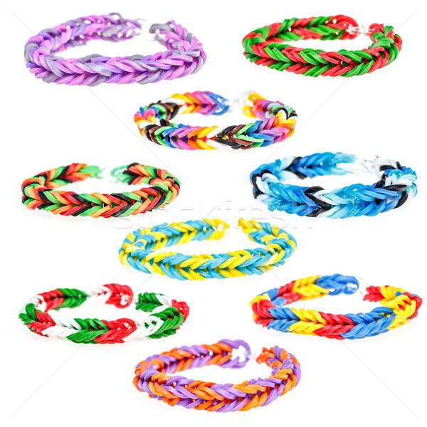 Armband kleurrijk regenboog geïsoleerd witte kinderen Stockfoto © grafvision