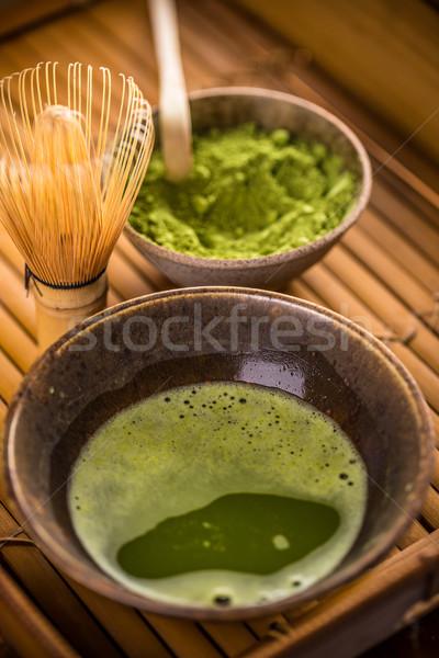 Powdered green tea Stock photo © grafvision