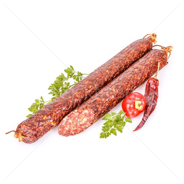 Delicious salami sticks Stock photo © grafvision