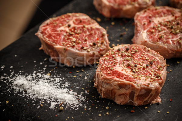 Raw meat steaks Stock photo © grafvision