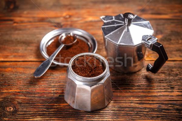 старые кофеварка землю кофе Vintage Сток-фото © grafvision