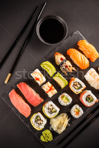 Various kinds of sush Stock photo © grafvision
