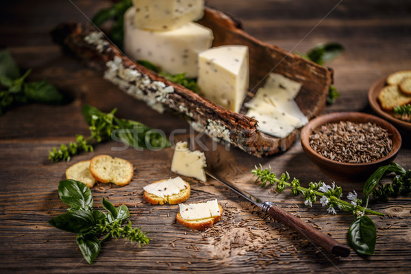 Still life of cheese Stock photo © grafvision