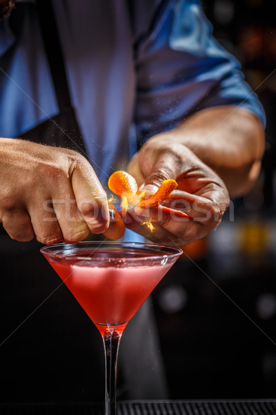 бармен космополитический коктейль эксперт оранжевый Сток-фото © grafvision