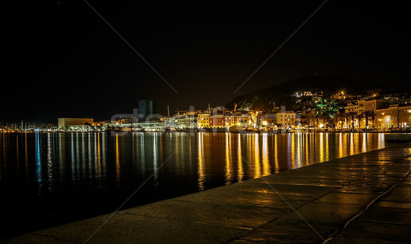 Split at night, Croatia Stock photo © grafvision