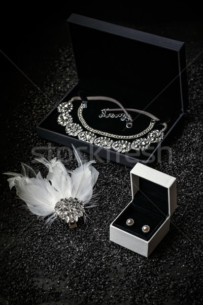 Woman's jewelry, beautiful rhinestone  Stock photo © grafvision
