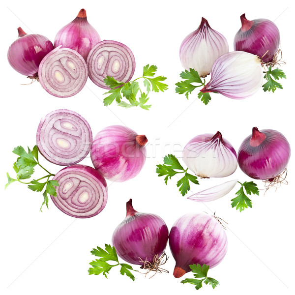 Collection of onions  Stock photo © grafvision