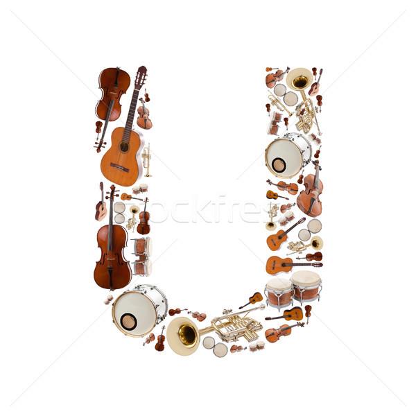 楽器 手紙 アルファベット 白 ツリー ギター ストックフォト © grafvision