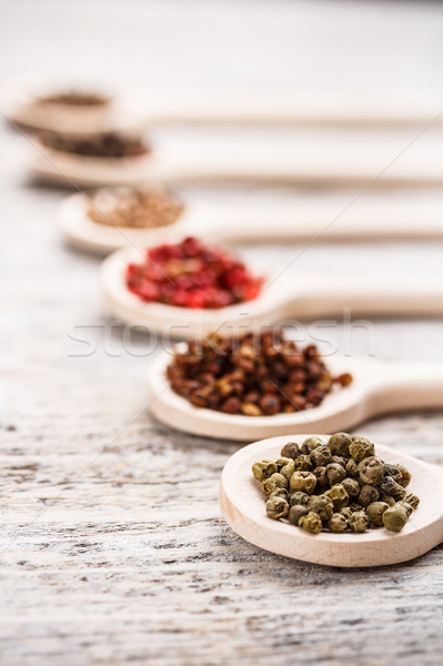 Green peppercorns Stock photo © grafvision