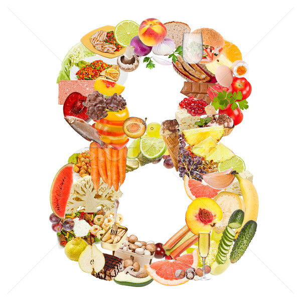 Number 8 made of food Stock photo © grafvision