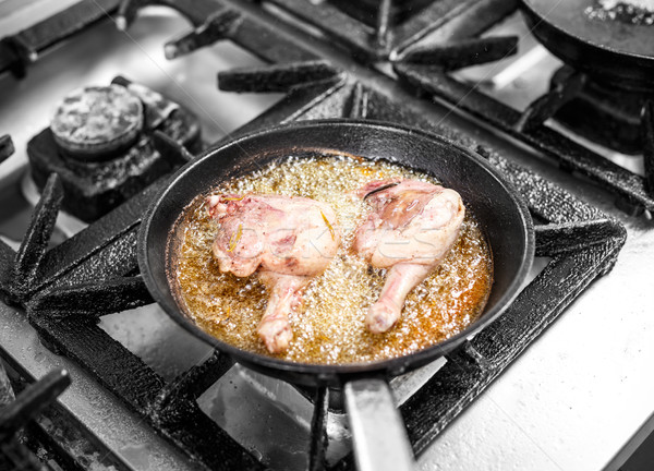 Duck drumsticks frying Stock photo © grafvision