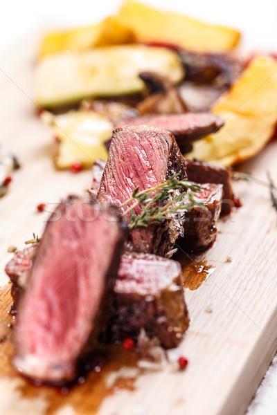 Medium roasted steak  Stock photo © grafvision