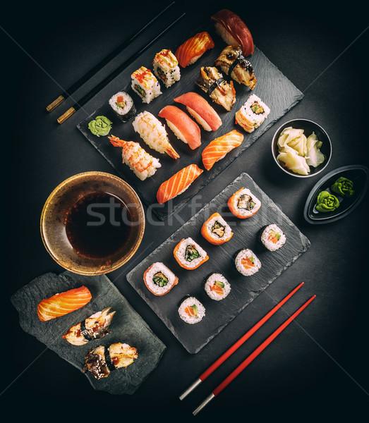 Delicious sushi set Stock photo © grafvision
