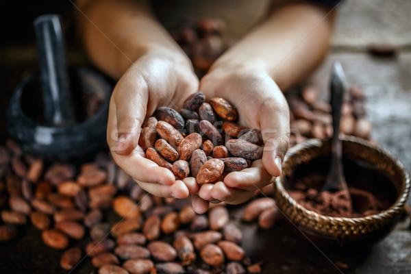 Aromatik el çikolata Stok fotoğraf © grafvision