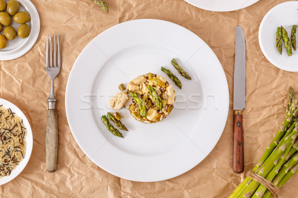 Risotto with asparagus Stock photo © grafvision
