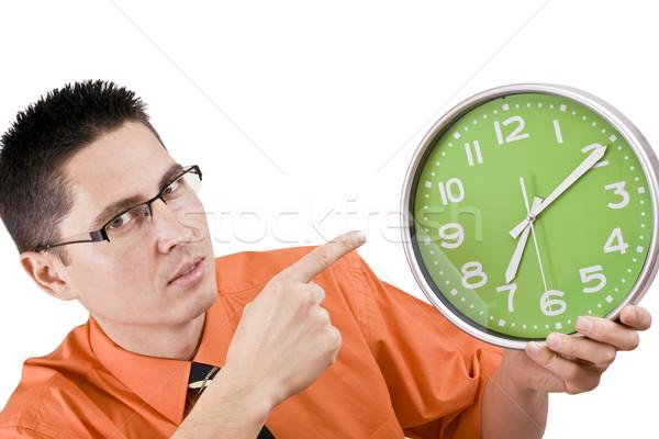 時は金なり ビジネスマン 怒っ しない 時間 孤立した ストックフォト © grafvision
