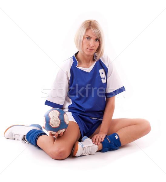 Handball player Stock photo © grafvision
