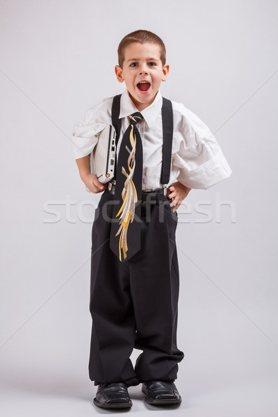 Boy wearing oversized clothes Stock photo © grafvision