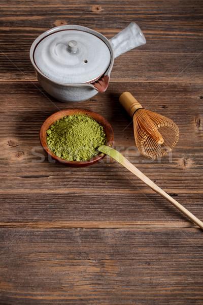 Thé fouet boire balai céramique Japon Photo stock © grafvision