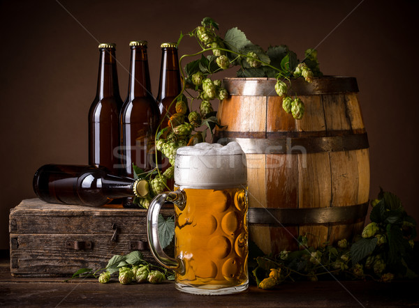 Still life with beer Stock photo © grafvision
