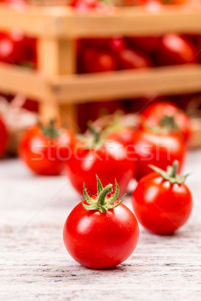 Tomate cherry pequeño alimentos salud fondo Foto stock © grafvision