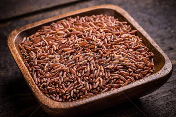 Stock photo: Red rice