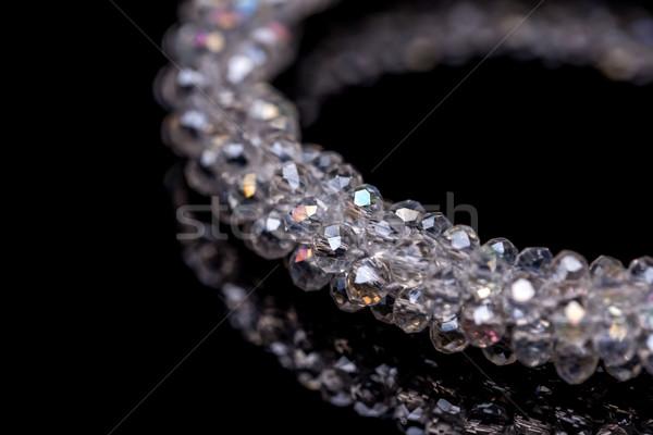 Bracciale nero donna vetro bellezza Foto d'archivio © grafvision