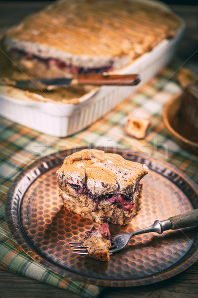 Baked milk loaf pudding Stock photo © grafvision