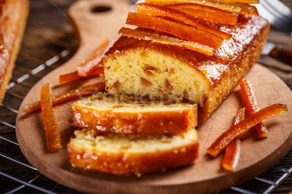 フルーツ パン オレンジ ケーキ キャンディ ストックフォト © grafvision
